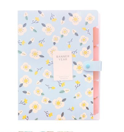 8 Pockets Expanding Document File Folders A4 File Organizer Flower (Fashion Folders)