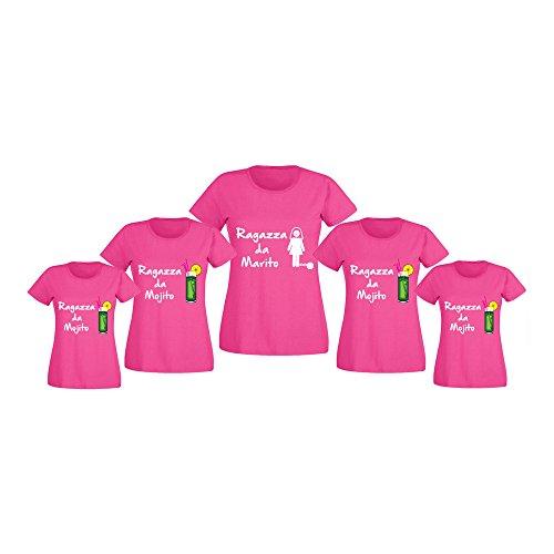 Ragazza Donna Addii Nubilato Altra Magliette da al per da Marca Personalizzate T o Marito Shirt Fucsia Pacchetto Mojito wqf7gwH
