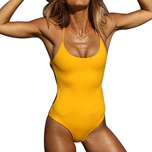 Damen Monokini Bademode Bandage Einteiliger Bikini Badeanzug Schwimmanzug Sommer