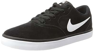 Nike SB Check Solar, Zapatillas de Skateboarding para Hombre, Negro (Black/White), 44.5 EU