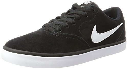 Nike Herren SB Check Solar Low-Top Schwarz (Black/White)