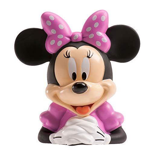 DEKORA 204010 Disney Minnie Mouse Piggy Bank for Kids with Waffer Tickets, Pink