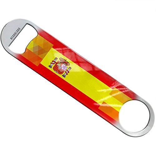 NEONBLOND Spain Flag Flat Beer Bottle Opener Heavy Duty Bartender by NEONBLOND
