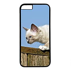Hard Back Cover Case for iphone 6 Plus,Cool Fashion Black PC Shell Skin for iphone 6 Plus with Cute Cat