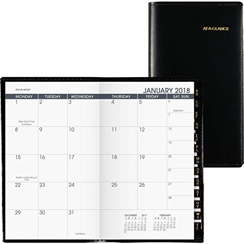 Mead Removable Planner - AT-A-GLANCE Recycled Monthly Planner, 3 x 6 Inches, Black, 2013 (70-064-05)