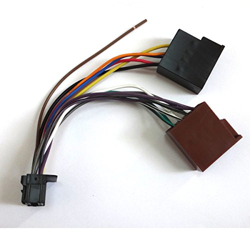 AMSAMOTION Pioneer Car Radio Stereo 16 Pin Wiring Harness Loom Iso 2003 Lead Wire Connector: