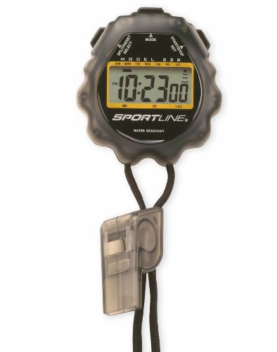 Sportline Giant Water-resistant Sport Timer-Stopwatch With Extra Large Display For Easy Reading, (Split Clock Extra Large Display)