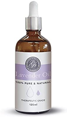 100% Pure & Natural Lavender Essential Oil (4oz) - LARGE - Great for Massage Therapy, Bath Soak, Aromatherapy, Skincare, Home Fragrance, Relaxation and Improving Sleep – Therapeutic Grade