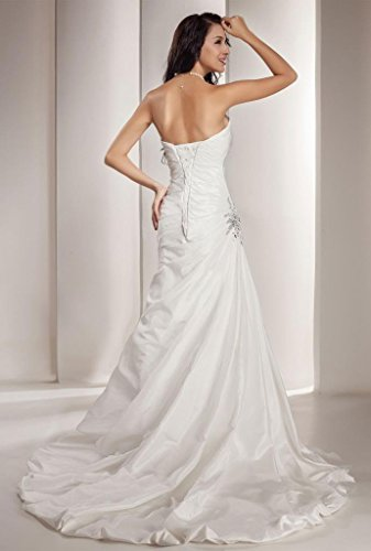GEORGE BRIDE Sweetheart Neckline Taffeta Wedding Dress With Beaded Bodice