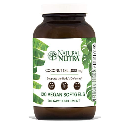 Natural Nutra Organic Non-GMO Virgin Coconut Oil Capsules with Lauric Acid and Monolaurin, Medium Chain Triglycerides (MCT) Supplement for Hair Growth, Weight Loss, Energy, 1000 mg, 120 Vegan Softgels Review