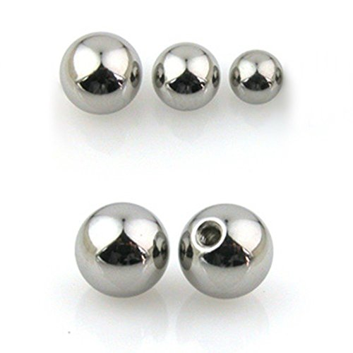 14G Gauge Replacement Balls Stainless Steel Piercing 3mm 4mm 5mm Ball Stud Tragus Helix Lip Ring Earring