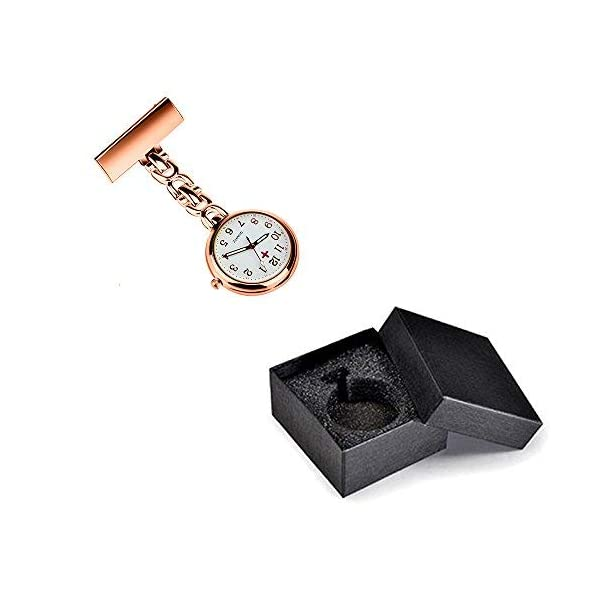 WIOR Nurse Lapel Pin Watch Hanging Medical Doctor Pocket Watch Quartz Movement Nurses Watch for Xmas Birthday Mothers Day Gift