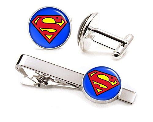 Classic Superman Cufflinks Justice Superhero product image
