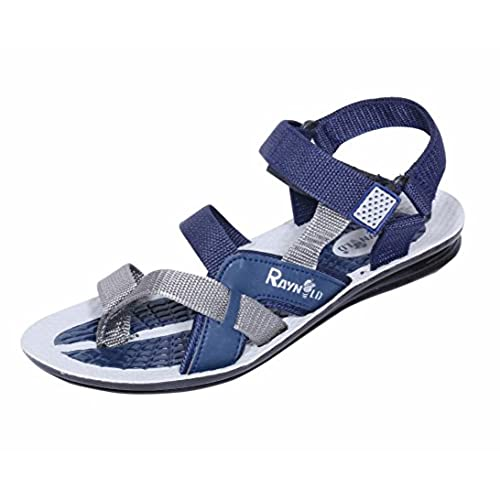 e25ba608a Indistar Men PU Leather Flip Flop   Sandal House Slipper And Thong Sandals -Blue