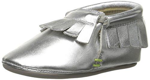 umi Bevin Crib Shoe (Infant/Toddler), Silver, 20 EU(5 M US Toddler)