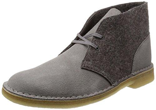 Clarks desert boot pelle lana CAMOSCIO E LANA
