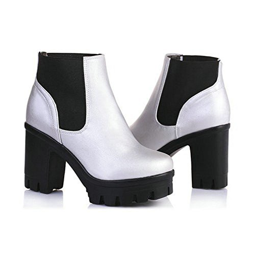 Motorcycle Winter Logan Boots High Women Platform Slip Black Shoes On Heels Jerald Thick Black Snow gnvfzgF