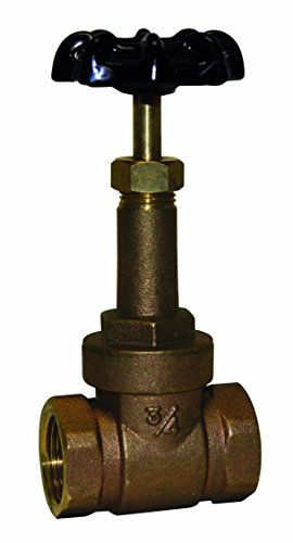 Everflow Supplies 44122-NL Lead Free IPS Threaded Rising Stem Gate Valve, 1/2-Inch