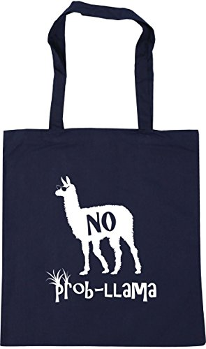 litres 10 No Tote x38cm 42cm Bag Llama Shopping HippoWarehouse French Beach Prob Navy Gym Pdnt1Zx