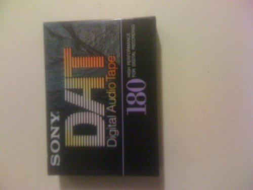 Sony 180 Dat Tape (Digital Audio Tape)