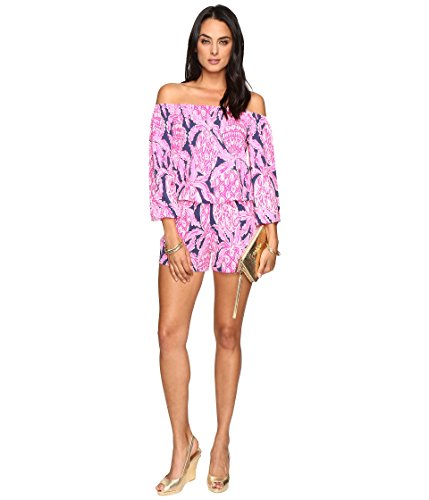 Lilly Pulitzer Women's 23971 : Lana Romper, Bright Navy/Coco Safari, L