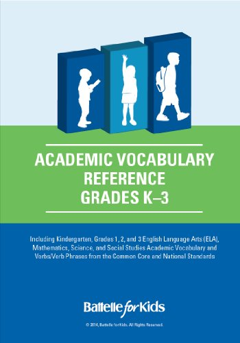 Academic Vocabulary Reference, Grades K-3: a Teacher Planning Tool with Academic Content, Verbs, and Verb Phrases From the Common Core and National Standards
