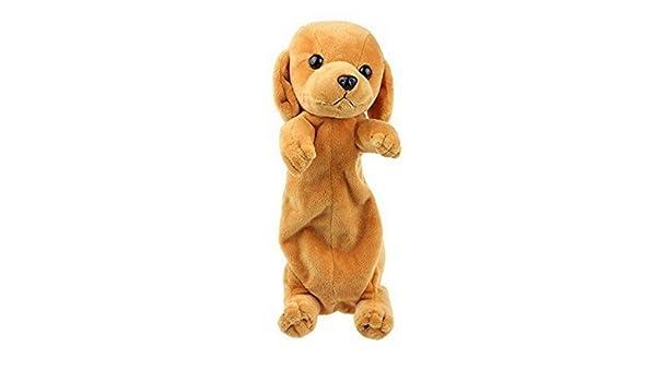 Jellbaby - Estuche para lápices, diseño de perro de peluche, color dorado: Amazon.es: Hogar