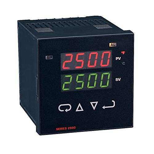 Dwyer Series 2500 Temperature Control, 25013, No Alarm, Thermocouple, Relay (Adjustable Thermocouple)
