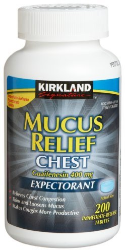 Kirkland Signature Mucus Relief - 200 Tablets