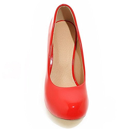 On Canday KemeKiss Pumps High Color Women Heel Wedding Red Slip Stylish IwqAqt