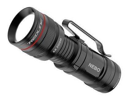 Nebo 6272-A Upgraded Micro Redline OC LED Flashlight Black 6x Zoom 4 Modes