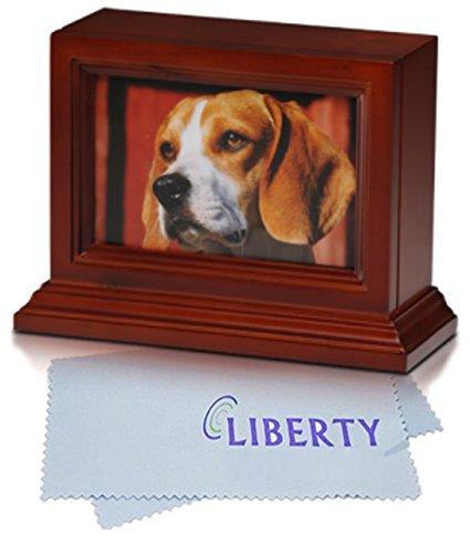 - Bogati Birch Wood 4″ x 6″ Photo Frame Urn With Cherry Stain & Glass Front (Birch Wood - Cherry Stain)
