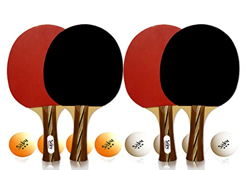Fantastic Deal! Ping Pong Paddle Set - 6 Star Performance Series - Table Tennis Racket Kit with Dura...