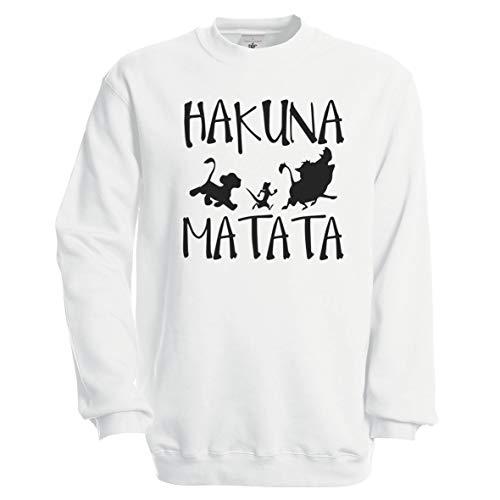 Hakuna Matata No Problems Disney King Lion Sudadera Unisex: Amazon.es: Ropa y accesorios