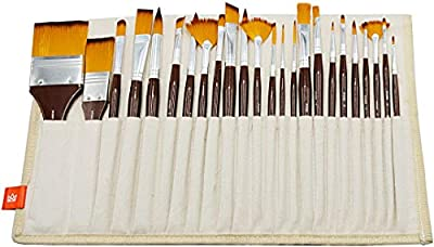 KINGART Brush Library In Canvas Wrap - Set Of 24