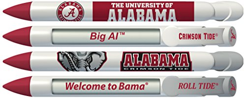 University of Alabama Crimson Tide Rotating Message Pens - 4 pack (8002) Officially Licensed Collegiate Product