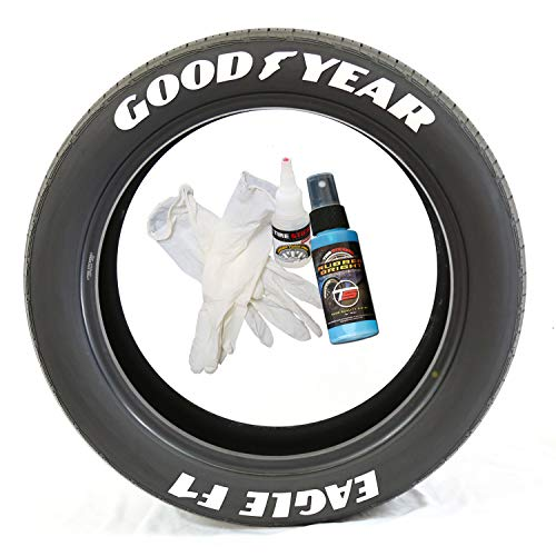 Tire Stickers Goodyear Eagle F1 - DIY Permanent Rubber, used for sale  Delivered anywhere in USA