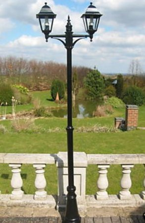 Garden Lighting Victorian Style Double Headed Garden Lamp Post