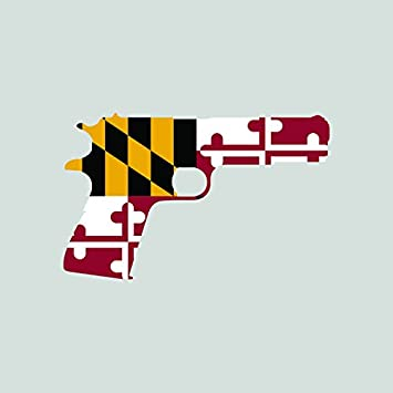 Maryland flag 1911 sticker self adhesive vinyl decal fa graphix md 2a gun rights molon labe