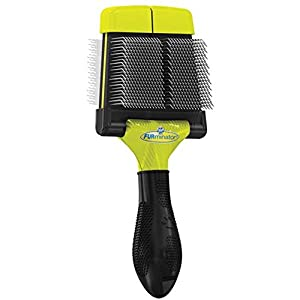 1. FURminator Firm Grooming Slicker Brush for Clean Healthy Coats
