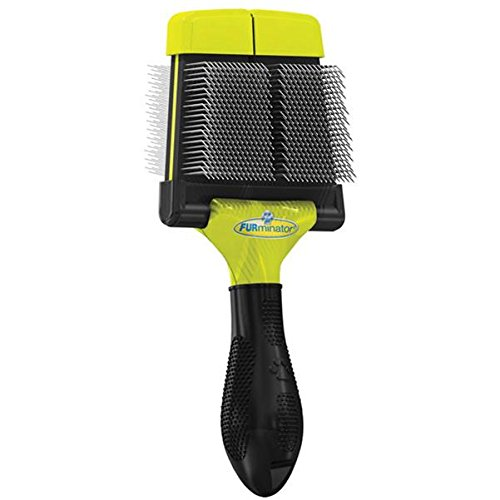 Furminator Soft Grooming Slicker Brush, Dog, (Flexible Slicker Brush)