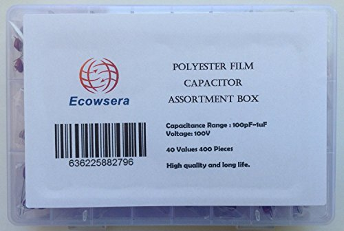 100V Polyester Film Capacitor Assorted Kit, 40 Values, 400 Pcs