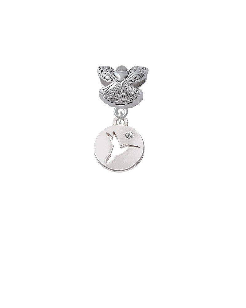 Guardian Angel Charm Bead Hummingbird Disc