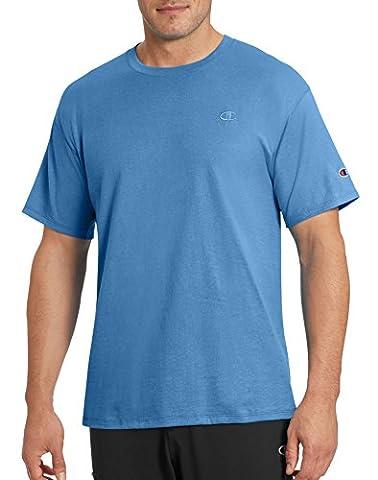 Champion Men's Classic Jersey T-Shirt, Swiss Blue, M (Swiss Mens Classic)
