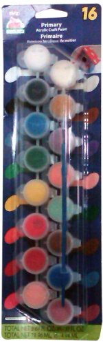 Apple Barrel Acrylic Paint Set with 16 Colors, 23917 Primary