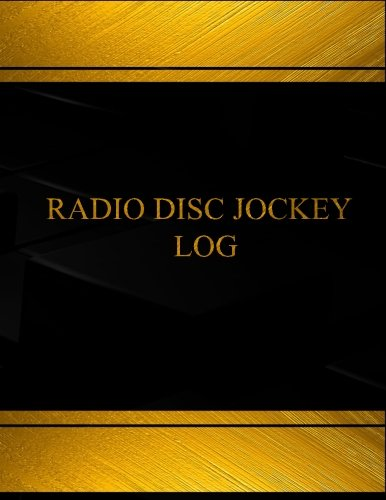Disc Jockey Log Log Book Journal  125 pgs 85 X 11 inches Disc Jockey Logbook Black  cover XLarge Centurion LogbooksRecord Books
