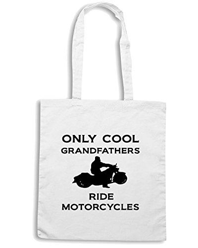 T-Shirtshock - Bolsa para la compra OLDENG00097 grandfathersmotorcycle Blanco