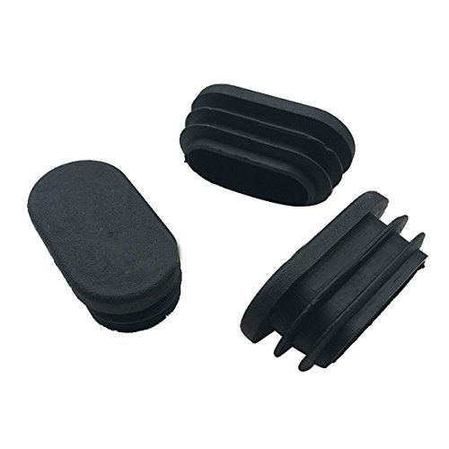 (Xigeapg Oval Table Chair Leg Tube Pipe Insert End Cap 40mm x 20mm 20pcs)