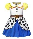 Jurebecia Baby Girls Jessie Costume Dress Toddler Jessie Fancy Dress Up Halloween Party Cosplay Birthday Dress Size 2T