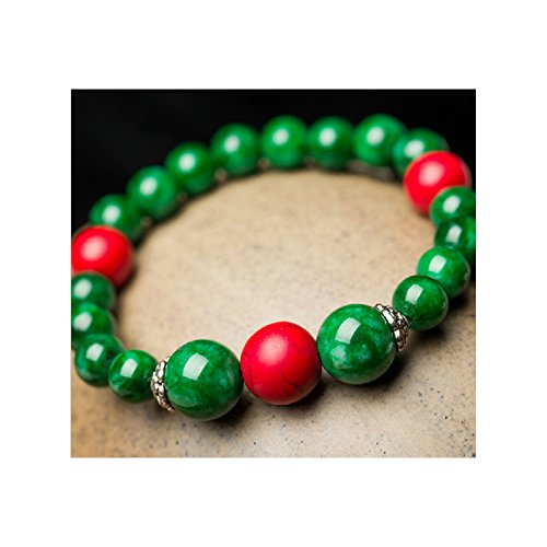 The Starry Night 14mm Zen Religious Style Stem green Red Turquoise Insulation Beads - Meaning Of Gabbana